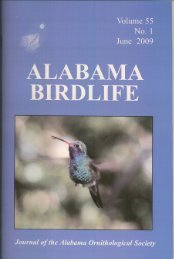 Vol. 55#1.indd - Alabama Ornithological Society