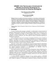 Anais do IX SEMINCO - Departamento de Sistemas e Computação