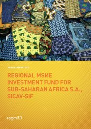 regional msme investment fund for sub-saharan africa sa ... - Regmifa