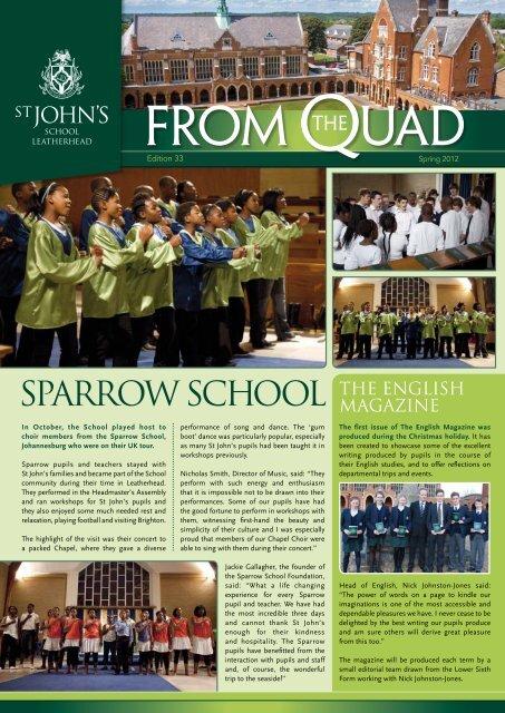 Sparrow SChool THE ENGLISH - St John's