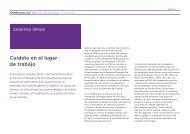 Cuídate en el lugar de trabajo - Informe anual 2012 - Sanitas