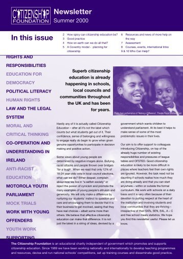 the Citizenship Foundation's newsletter - eRiding