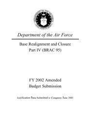 BRAC 1995 Commission, FY02 - Air Force Financial Management ...