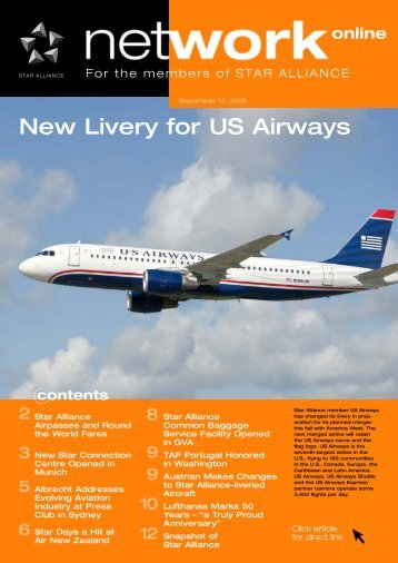 New Livery for US Airways - Star Alliance Employees Portal