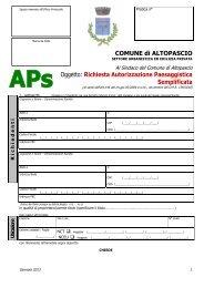 Richiesta Autorizzazione Paesaggistica Semplificata - Comune di ...