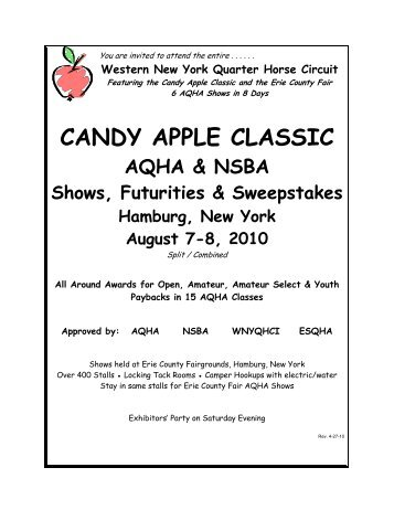2010 Candy Apple Classic Booklet.pdf - Western New York Quarter ...