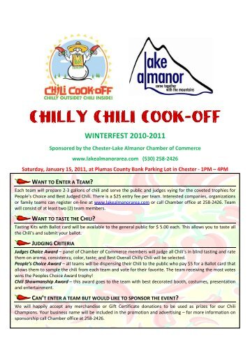 Official Chili Cook Off Rules Life Point
