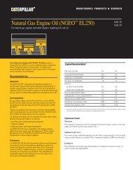 Natural Gas Engine Oil (NGEO EL250) - PEHP9574 - Caterpillar Oil ...