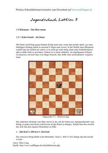 Jugendschach - Kompletter Schachkurs für Jugendliche, Lektion 3