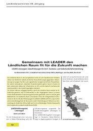 Gemeinsam mit LEADER den Ländlichen Raum fit für die Zukunft ...