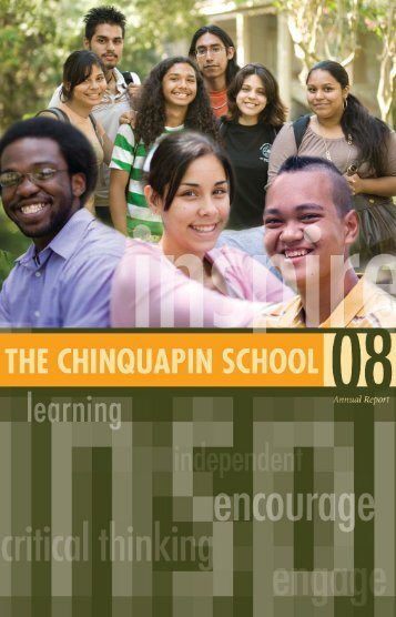 2008 Annual Report - Chinquapin School