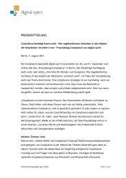 Pressemitteilung herunterladen - Compliance Training