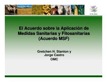 Gretchen Stanton y Jorge Castro. El Acuerdo sobre la Aplicación de ...