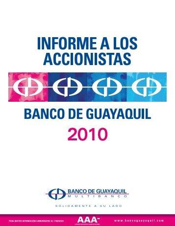 Informe a los Accionistas - Banco de Guayaquil