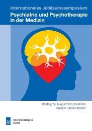 Psychiatrie und Psychotherapie in der Medizin - Universität Zürich
