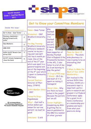 Get to Know your Committee Members - The Society of Hospital ...