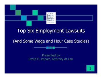 Top Six Employment Lawsuits