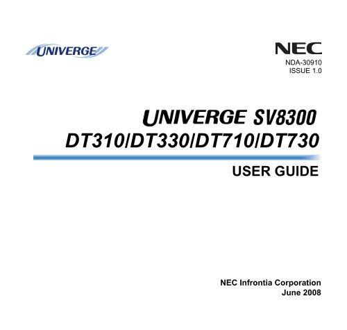 NEC SV8300 User Guide