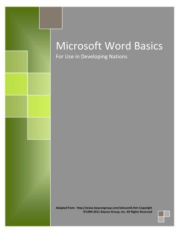 Microsoft Word Basics - Omprakash