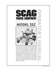 1998 SSZ Operators MANUAL - Scag Power Equipment