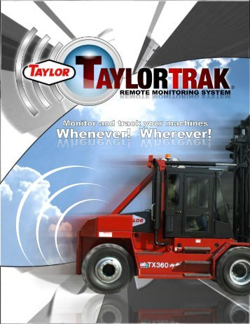 TaylorTrak Brochure - Taylor Machine Works