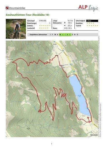 Sauhauthütten-Tour (Nockbike 19) - Nockbike, Bike Portal für die ...
