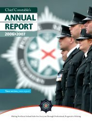 Chief Constable's Annual Report 2006-07 - Police Service of ...