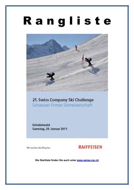Ski Challenge Rangliste