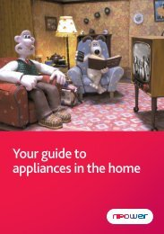Your guide to appliances in the home - Npower