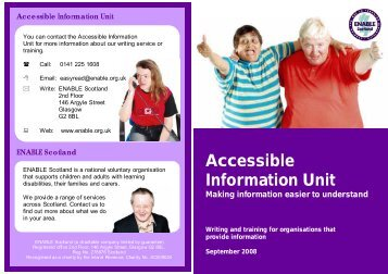 Accessible Information Unit - Enable