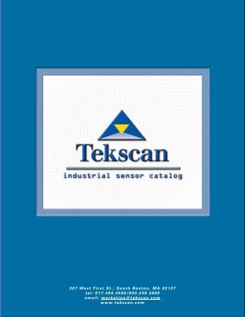 Pressure Sensor Catalog Introduction - Tekscan