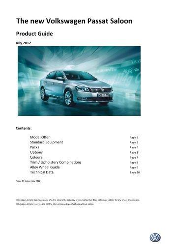 120726ac_Product Guide Passat B7 ... -  Volkswagen Ireland