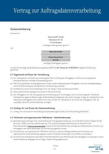 Datenschutzgerechte Auftragsdatenverarbeitung