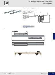 Rails télescopiques pour tables escamotables Trimanis ... - Hettich