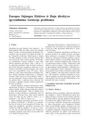 Europos Sąjungos Elektros ir Dujų direktyvų įgyvendinimo Lietuvoje ...