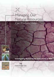Managing Our Natural Resources: Can Markets Help? - Ecosystem ...