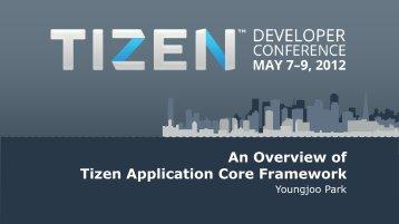 Download An Overview Of Tizen Application Core Framework