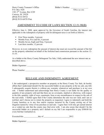 PDF Bidder Application - Horry County Government