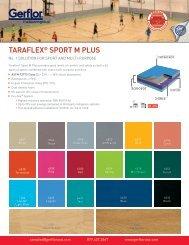 US Tech Data Taraflex® Sport M Plus - Gerflor USA