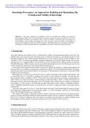 Knowledge Provenance - Enterprise Integration Laboratory