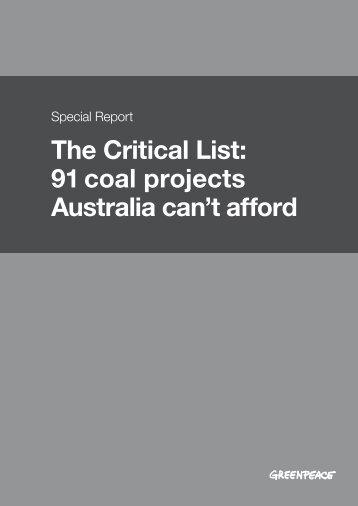 The Critical List