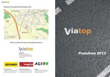 Preisliste 2013 Viatop - Vonplon Strassenbau AG