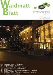 Waidmattblatt Nr. 42 (Dez. 2010) - Baugenossenschaft Waidmatt