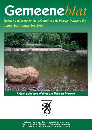 Bulletin d'information de la Commune de Mertert-Wasserbillig ...