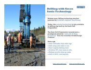 Drilling with Green Sonic Technology - Sonic Drilling Ltd.