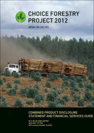 Choice Forestry PDS 2012 - WA Blue Gum Project