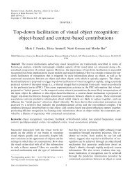 Top-down facilitation of visual object recognition: object ... - Moshe Bar
