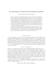 ON THE KOSTANT CONJECTURE FOR ... - Mathématiques