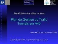 Plan de Gestion du Trafic Tunnels sur A40 - CoTITA