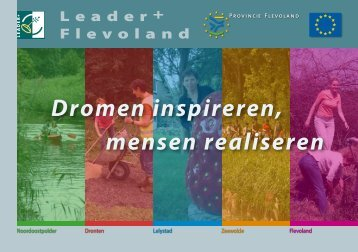 Projectenboek LEADER (7.7Mb) - Provincie Flevoland